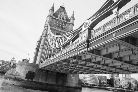 August 21, 2019 – Tower Bridge, London, United Kingdom. Tower Bridge is most likely the most famous bridge in the world, standing over the River Thames.