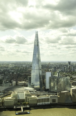 August 20, 2019 – London, United Kingdom. The Shard is probably the most iconic landmark in London, standing tall above all other skyscrapers and with its magnificent shape. Editorial