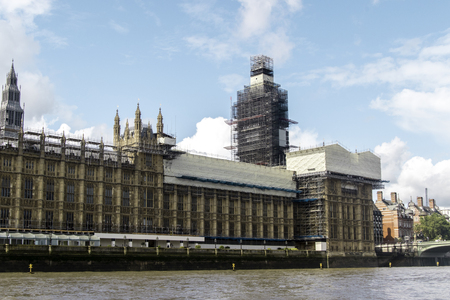 August 21, 2019 – Westminster, London, United Kingdom. The Houses of Parliament sit on the River Thames, the building that governs the rest of the United Kingdom.