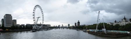 August 18, 2019 – River Thames, London, United Kingdom. The world famous River Thames that runs through the heart of London.