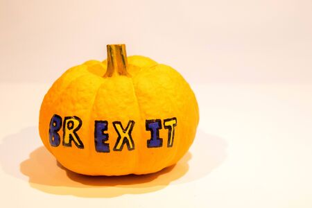 With the Brexit deadline looming on the 31st October 2019, here is a Pumpkin depicting Brexit on Halloween.