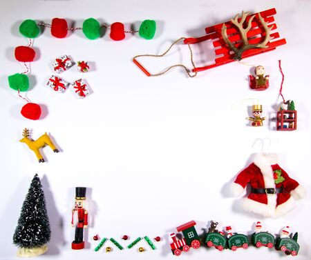 A view from above a Christmas themed tabletop.