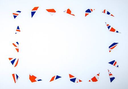 With the current economic state of the United Kingdom this broken British flag depicts the damage.