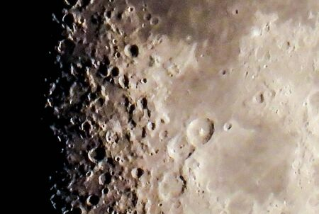The Moon is a beautiful sight for everyone all around the world. Here we see it close up, bright above our night sky. Zdjęcie Seryjne