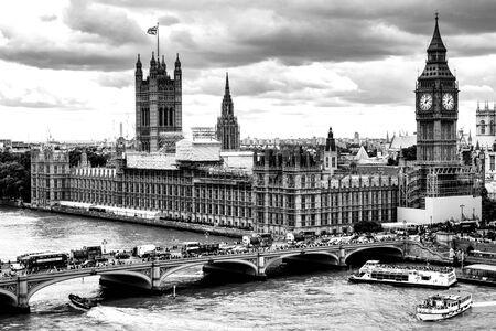 Pont de Westminster de Londres, Angleterre, Royaume-Uni.