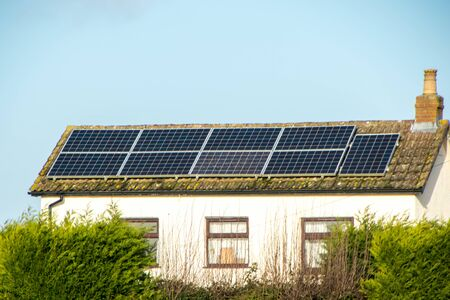 A small property with solar panels on