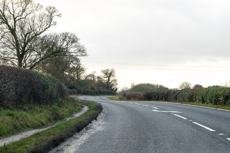 A typical countryside road through one of the parts of the United Kingdoms road networks.