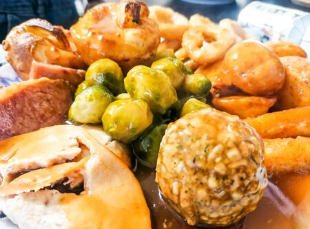 A delicious Sunday Roast Dinner, filled with goodness.