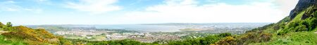 A fantastic view at Cave Hill, in Belfast, Northern Ireland. Cave hill overlooks the whole of Belfast city. Stock fotó