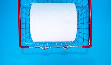 One of the vital supplies of the virus lock down being toilet paper. Stockfoto - 142375386