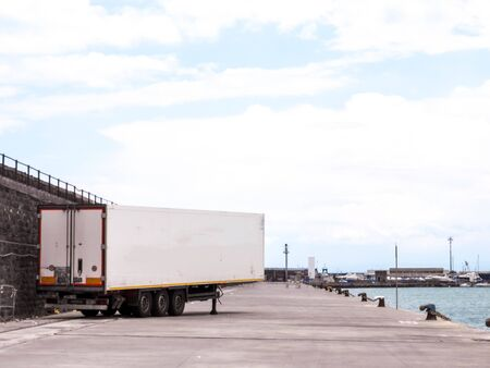 A large HGV trailer used for carrying all types of cargo and goods from one destination to the next.