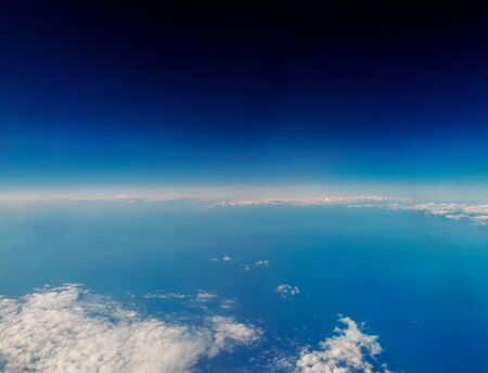 A view of our wonderful Planet Earth, from above. Cloud patterns cover the Earth's surface bringing all types of weather.