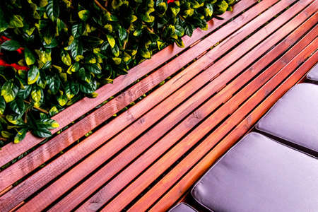 A simple but beautiful seating area for people to sit and chillout outside.