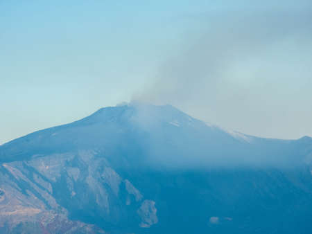One of the world's most famous landmarks and also one of the most active volcano on the planet, Mount Etna sits emmiting smoke and ash on the island of Sicily, Italy.