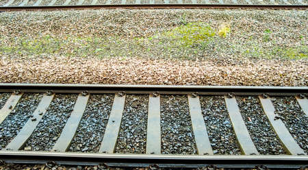 A view looking down onto the train tracks that allow trains to take their passengers to and from their destinations.