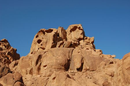 sinai desert: Aerated rock sculpture in Sinai desert, Egypt Stock Photo