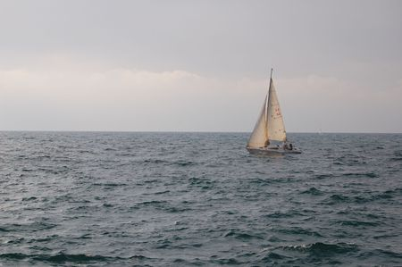 Sailboat at the Medeteranian sea Stock Photo - 3808713