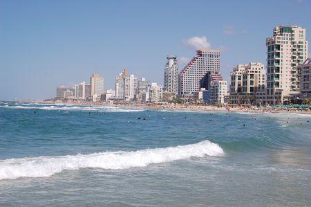 View of Tel-Aviv beech photo