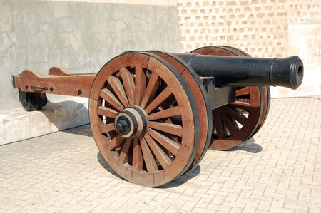sharjah: Old British Cannon in Sharjah fort