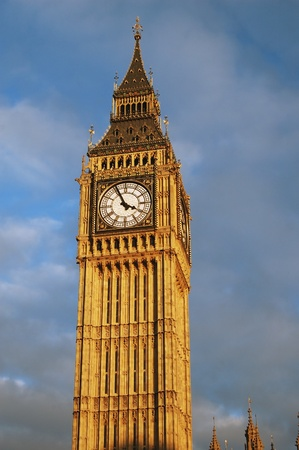 ben: Big ben, London clock tower Stock Photo