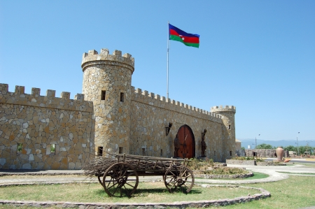Entrance gate to the Lankaran city, Azerbaijan