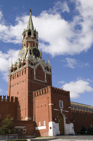 spasskaya: Spasskaya tower on the Red square, Moscow Stock Photo