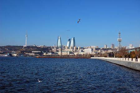 Baku view fom the harbor photo
