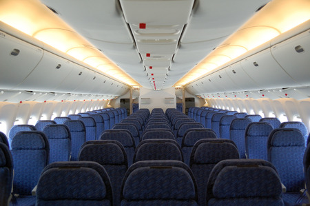 Seats of the passenger aircraft cabin