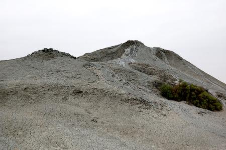 volcano slope: Slope of the Mud Volcano in Karadakh near Baku, Azerbaijan Stock Photo