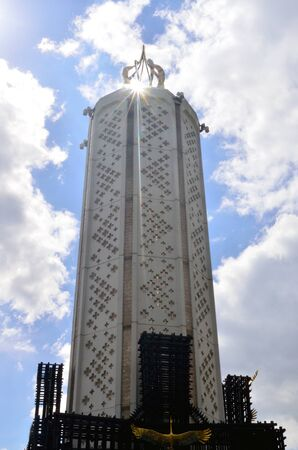 famine: Monument to the victims of famine in Kiev, Ukrain