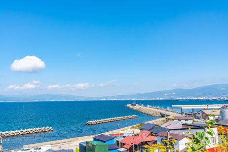 Summer in Hokkaido, Hakodate Bay from Foreign Cemetery
