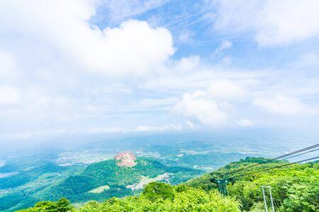 Hokkaido, Shikotsu Toya National Park, The Summit of Mt. Usu Stok Fotoğraf