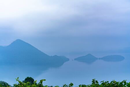 Hokkaido Toyako, Lake Toya Surrounded by Morning Fog from the Sailo Observatory
