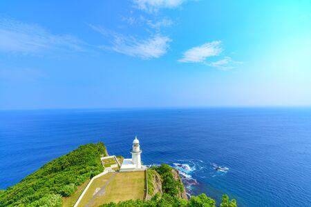 Summer scenery in Hokkaido's Windows Landscape from Chikyuu-misaki (Cape Earth)