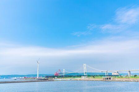 Hokkaido Muroran,View of the Syukuzu-Rinkai Park.