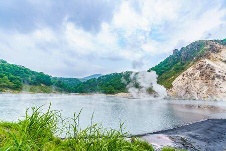 Summer in Hokkaido, Noboribetsu Scenery of Oyunuma