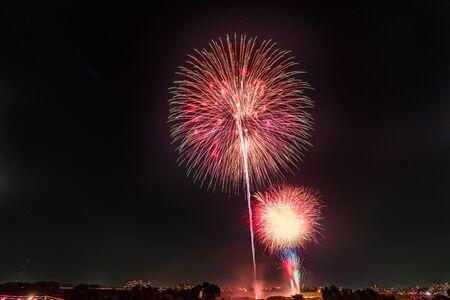 Summer in Japan, Itabashi Fireworks Festival Stockfoto - 136548559