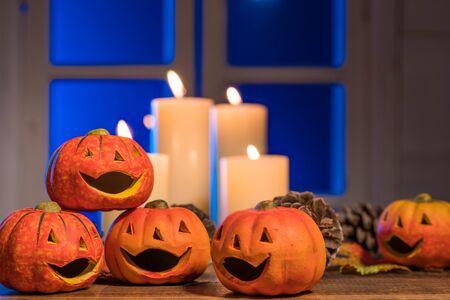 Halloween, Jack-o-Lantern over the moon