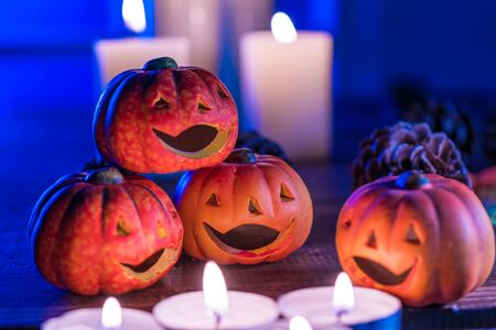 Halloween, Jack O'O'Lantern over the Candles