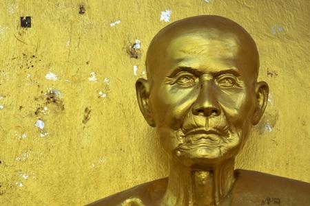 cabeza de buda: Buddha head in Asia Thailand.