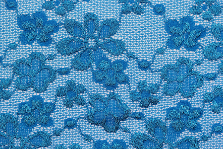 materia: The macro shot of the blue flowers lace texture materia