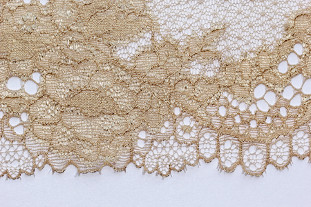 materia: The macro shot of the pale beige lace texture materia