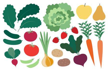 Farm produce set