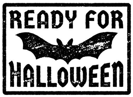 Ready for Halloween stamp