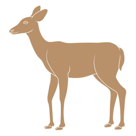 Deer illustration Иллюстрация