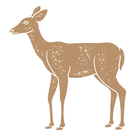 Grunge deer illustration Иллюстрация