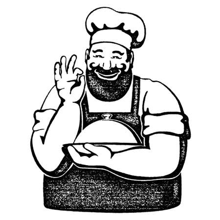 Chef with a tray