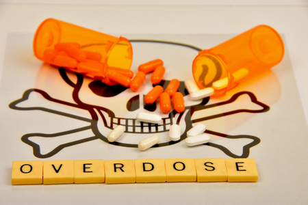 Signs and symbols of drug overdose. Stok Fotoğraf