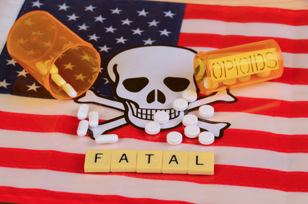 Signs and symbols of opioid crisis in America. Stok Fotoğraf