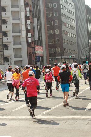 Runner for Tokyo Marathon Stock Photo - 13047119